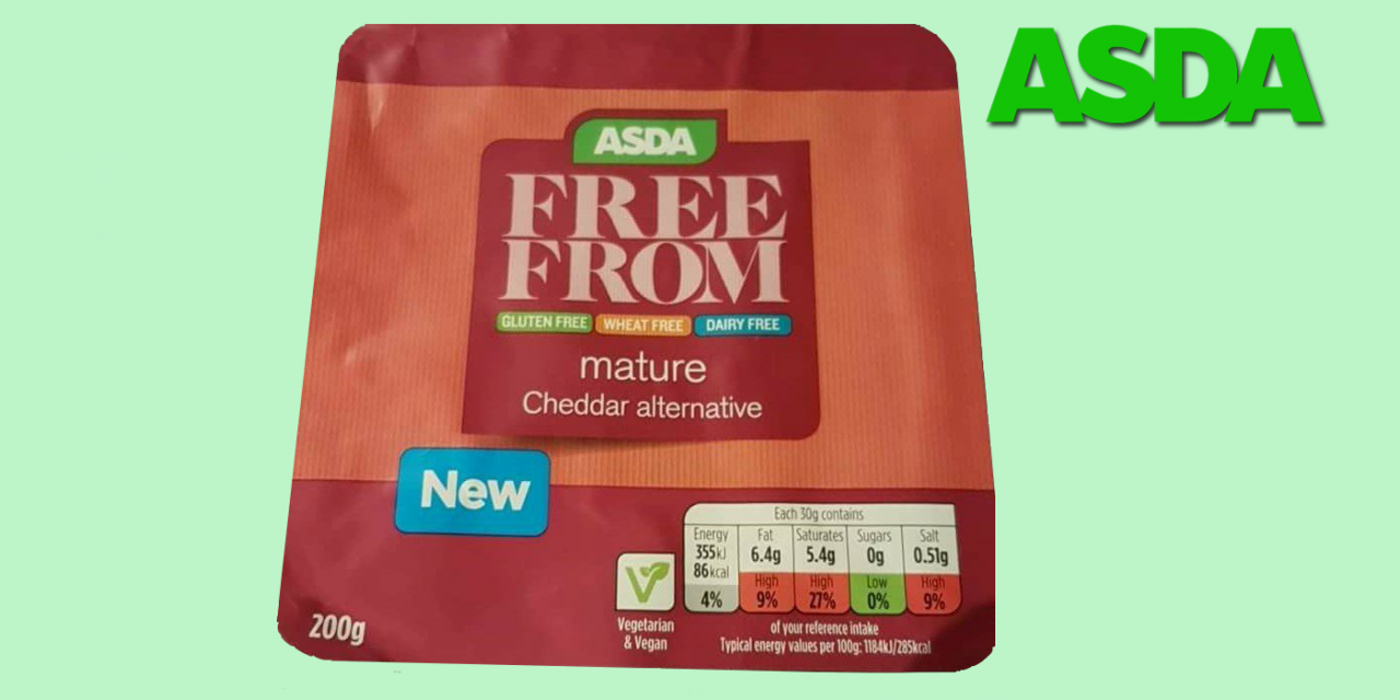 ASDA Launches New Vegan and Gluten Free Cheddar Cheese