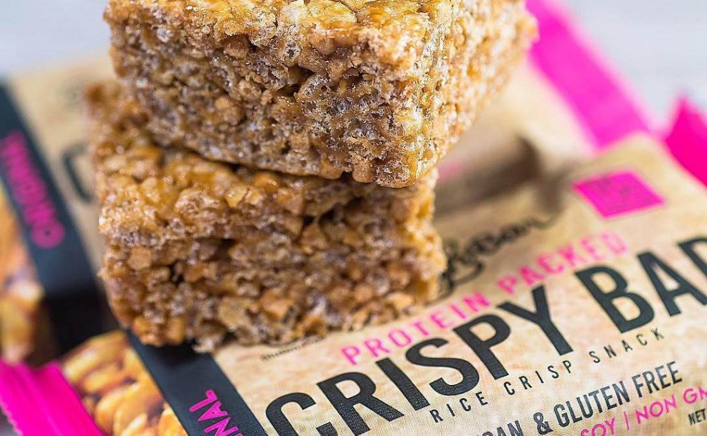 Vegan Snack Brand Launch High Protein Rice Krispy Bars